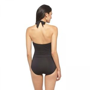 Clean Water Swim - NWT Clean Water Plunge Halter Swimsuit XL Black